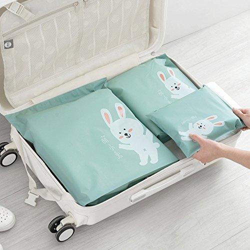 99native 3 Stück Aufbewahrungstasche, Aufbewahrungsbeutel, für Kleidung Bettdecken Bettwäsche, Groß Aufbewahrungsbeutel mit Reißverschluss, Vliesstoff Reise Kleiderbeutel, Wiederverwendbar (Grün) - Grüne Bettdecken