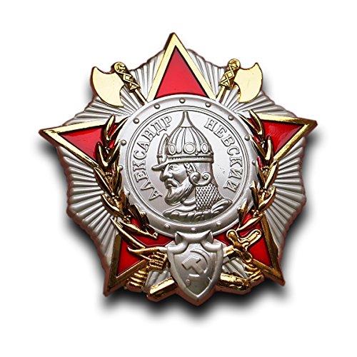Bestellung von Alexander-Newski-2. Weltkrieg sowjetischen russische UdSSR Medaille Abzeichen für MUT UND EHRE Replica (Russische Abzeichen)