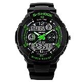 Skmei S Shock Analog und Digital Sport Uhr Grün Farbe