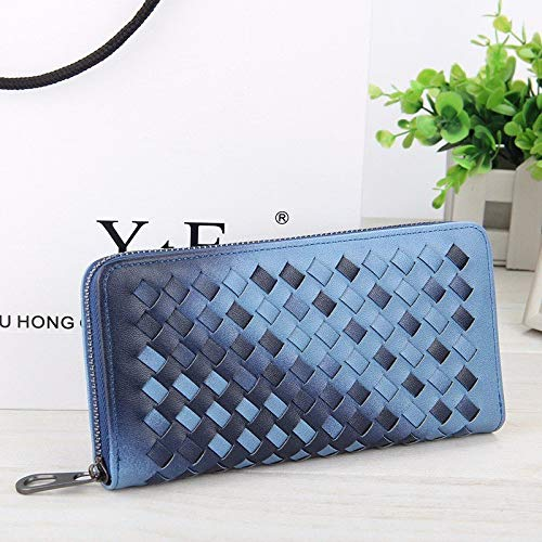 K8U147 @FATO 5.5 Inch Women's PU Woven Texture Long Wallet Phone Bag Handbag for iPhone 7/7 Plus Samsung S7 Edge Pu Chunky Heel