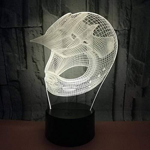 YDBDB Nachtlicht Bunte Note der Lampen-Rugby-Hut-3D führte Sichtgeschenk-kundenspezifische Nachttischlampe für das Schlafzimmer der Kinder -