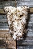 ESTRO | Tappeto in Pelle di Pecora Icelandic Autentico | Brillante e Lussuoso | varietà di Colori (Wolf Tip, 120 cm)