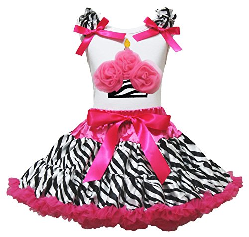 rt Hot Pink Zebra Pettiskirt Dress Girl Clothing Outfit 1-8y (6-8 Jahrs) (Cupcake Kostüm Kinder)