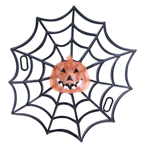 Spinnennetz Lichter Kürbis Hängende Dekoration Prop Scary Blinkende LED Cobwebs Dekoration für Halloween Party ()
