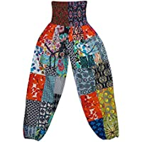 Boho Chic Designs Women's Yoga Pants Multi Long Beach Summer Harem Trouser
