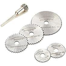 hoja de sierra circular, LOMATEE 6 unidades de disco de corte circula HSS, para la fibra de disco de corte para aluminio madera y plástico metal blando cobre de