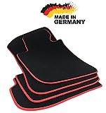 Fußmatten 3er E90 E91 Premium Velours SCHWARZ Hochwertige Rote Umrandung Original Qualität Automatten