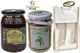 Ökologische Kastanien Roher Honig, 500 GR, Miel Antonio Simon und und Ökologische Blütenpollen, getrocknete Bienenpollen 225 GR, Mellarius, süßer Geschmack aus Spanien, Inklusiv Geschenktasche