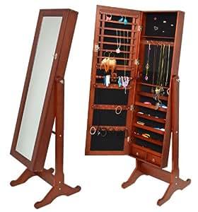 schmuckschrank mit spiegel landhaus schmuckkommode. Black Bedroom Furniture Sets. Home Design Ideas