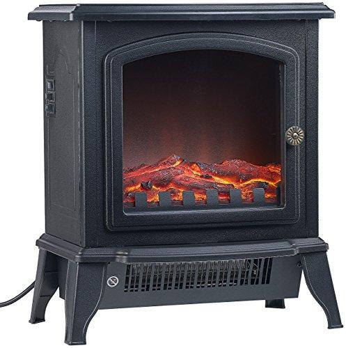 Sichler Haushaltsgeräte Elektrokamine: Elektro-Kamin in Nostalgie-Optik, Flammeneffekt, 2 Stufen, 2.000 Watt (Elektrischer Kaminofen)