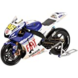 Yamaha YZR-M1 Wet Tyres Dirty Version (Valentino Rossi 2008 Indianapolis MotoGP) Diecast Model Motorbike