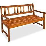 DEUBA - Panchina da giardino in legno adatto per esterni