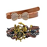 Diovanni Combo of Brown Color Bracelet a...