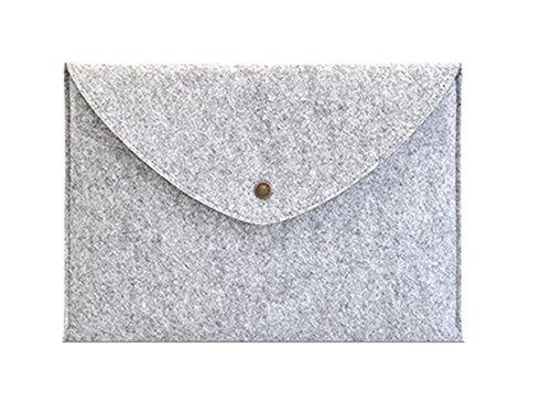 """Filz Laptop Sleeve Laptoptasche Hülle Laptophülle Tasche für Notebook Laptophülle Schutzhülle für 10-17 Zoll Macbook,iPad für macbook air 11.6"""" Hell Grau"""