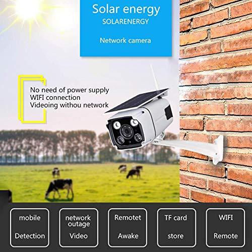 StageOnline Telecamera di sicurezza wireless alimentata a energia solare da 2 megapixel, telecamera di sorveglianza IP con sensore di rilevamento di visione notturna Monitor remoto con cellulare