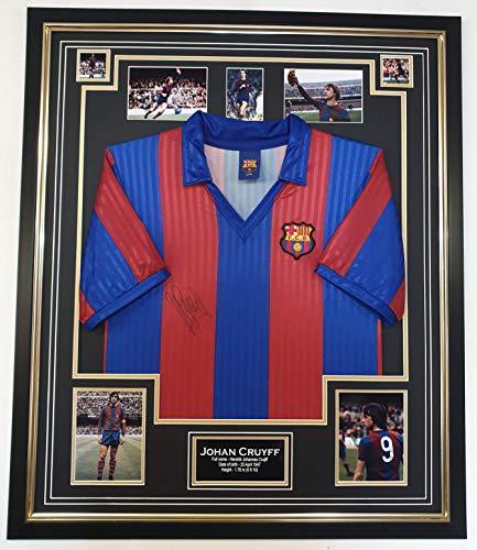 www.signedmemorabiliashop.co.uk Johan Cruyff signiertes Barcelona Trikot