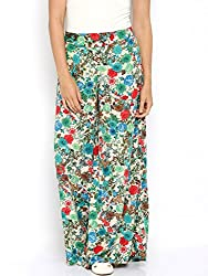 Rigoglioso Womens Relaxed Palazzo (RIGPLZFRLCRB_Multi-Coloured_X-Large)