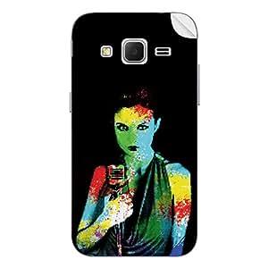 ezyPRNT Samsung Galaxy Core Prime Female Jazz Singer back mobile skin sticker