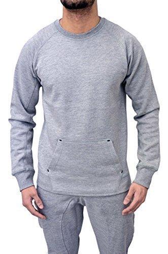 Da uomo Designer tuta in pile Skinny sottile pantaloni Jogging pantaloni e felpa Pullover Top sudore 2colori Top Grey M