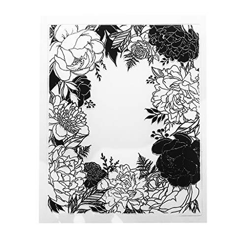 ECMQS Blumen DIY Transparente Briefmarke, Silikon Stempel Set, Clear Stamps, Schneiden Schablonen, Bastelei Scrapbooking-Werkzeug