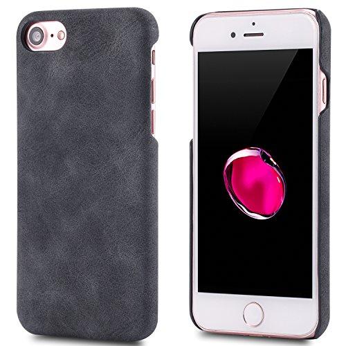 iPhone 7 Case,Genuine Leather Magnetic Case Cover per iPhone 7 (Verde) Nero
