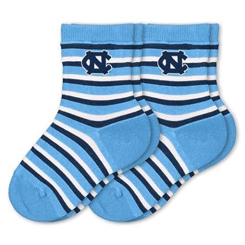 NCAA Unisex Kleinkind Zwei Pack Socken Sport Streifen, North Carolina Tar Heels