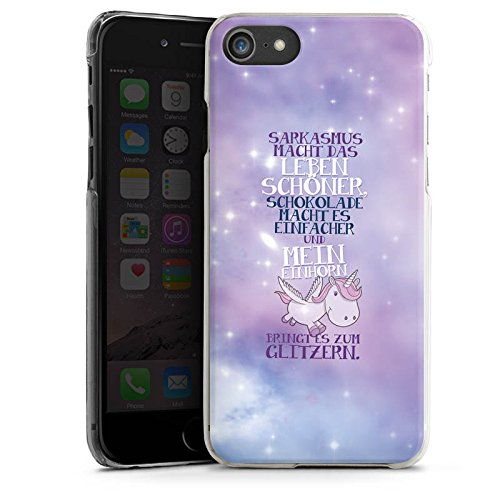 Apple iPhone 6 Plus Silikon Hülle Case Schutzhülle Einhorn Unicorn Sprüche Hard Case transparent
