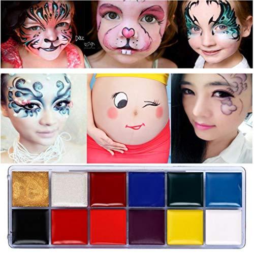 Preisvergleich Produktbild gaddrt 12 Farbkörper Gemaltes Öl Farbdrama Clown Halloween Make-up Gesichtsfarbe