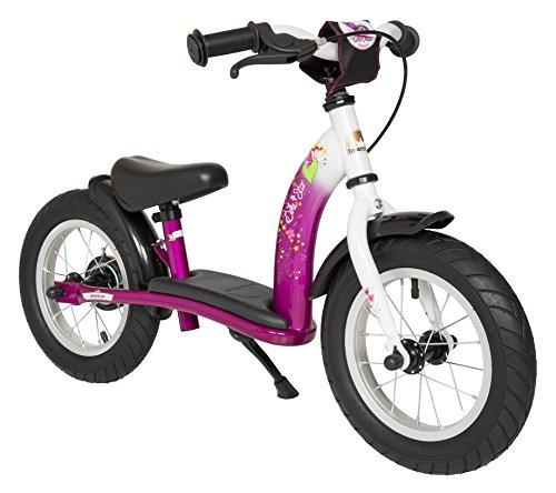 Bikestar Vélo Draisienne Enfants pour Garcons et Filles DE 2-3 Ans ★ Vélo sans pédales évolutive 12 Pouces Classique ★ Berry & Blanc