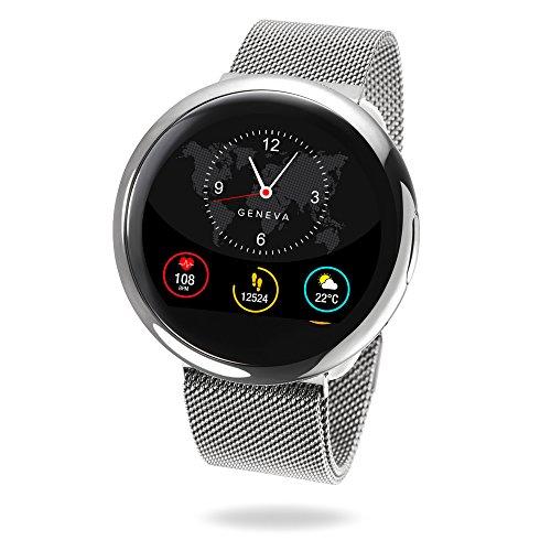 MyKronoz ZeRound2 HR Elite Smartwatch with Heart Rate Monitor/Built-In MicrophOne/Speaker - Shiny Silver