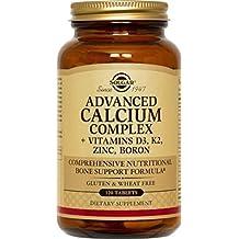 Solgar, Advanced Calcium Complex + Vitamins D3, K2, Zinc, Boron, 120 Tablets