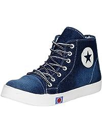Kraasa Premium Girls Star Denim Sneakers