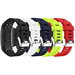 SUPORE Garmin Vivosmart HR Activity Tracker Correa de Reloj de Repuesto, Accesorios Correa de Reloj de Silicona Suave Ajustable Reemplazo Diseñado para Garmin Vivosmart HR Smart Sport Reloj (5PCS)