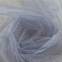 Plateado: 48 cm x 5 m, falda de tul de organza para decoración de boda, cumpleaños, bow, baby shower, princesa, fiesta, Suplies 5ZSH015