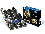 MSI 7817-019R Mainboard Sockel 1150 (microATX, Intel H81, PCIe, VGA, DVI-I, USB)