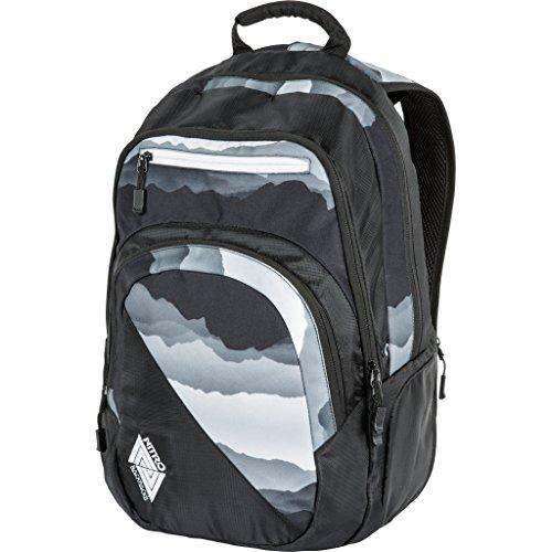 Nitro Stash Rucksack, Schulrucksack, Schoolbag, Daypack, Mountains Black/White, 49 x 32 x 22 cm, 29 L
