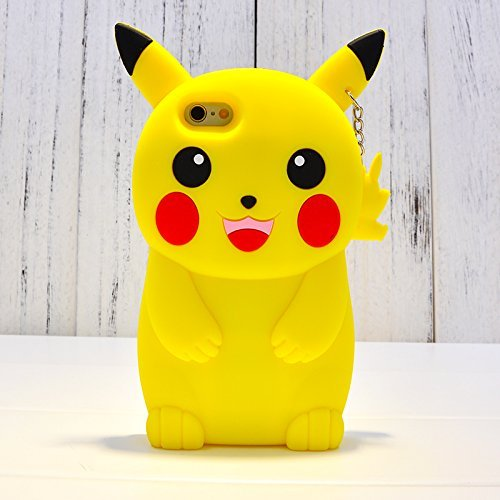 Pokemon Go 3D Pikachu Soft Silicone Back Cover Case For Samsung i9082 Galaxy Grand OR Grand Neo OR Grand Neo Plus OR 9080 OR GT-9060 - Yellow (Images Just For Reference Purpose Only cover cuts and edges differ according to phone model)  available at amazon for Rs.199