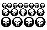 Punisher Aufkleber Set 17 Stück Skull decal Totenschädel Aufkleber