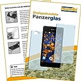 2x mumbi Panzerfolie für Sony Xperia Z1 Compact Glasfolie Hartglas 9H (1 x VORNE und 1 x RÜCK Folie)
