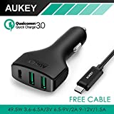 Generic Black : Aukey Fast charging Type C 3 / 3.0 USB Car Charger for Nexus Nokia Lumia oneplus 5x6 P N1 / 2 950 950xl Samsung LG and more