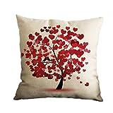 Nunubee Baumwolle Leinen Wohnkultur Werfen Sofa Auto Kissenbezug Kissenbezug Baum 6