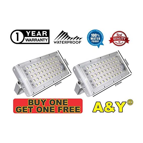 A & Y Outdoor Waterproof Ultra Thin Slim IP65 LED Flood Bulb (Cool Day Light White, 50W)
