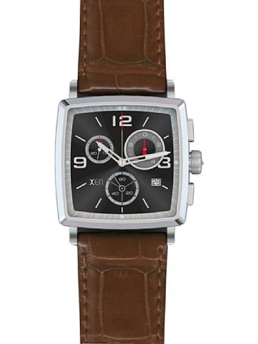 Xen Reloj Caballero XQ0059 Marrón 39 x 39 mm