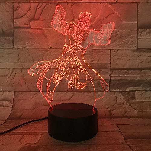 Nachtlicht Star Lords Illusion Geburtstagsgeschenk Tischlampe Schlafzimmer Neonlicht