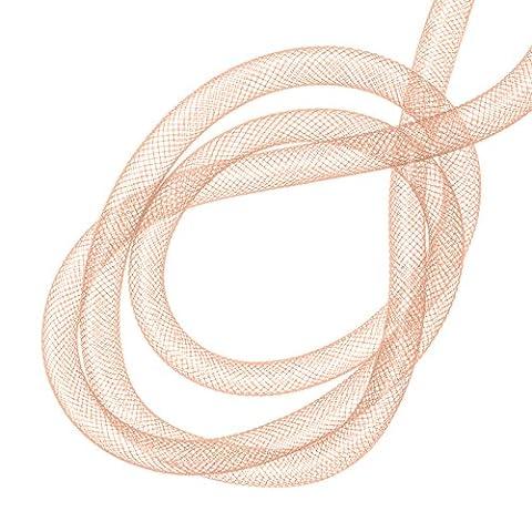 Creux en maille filet en nylon Tube Crafts 8mm Rose Clair 3m