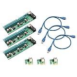 IOCrest PCI-E x1 auf Powered x16 USB 3.0 Riser Adapter Karte Verlängerungskabel – Grün
