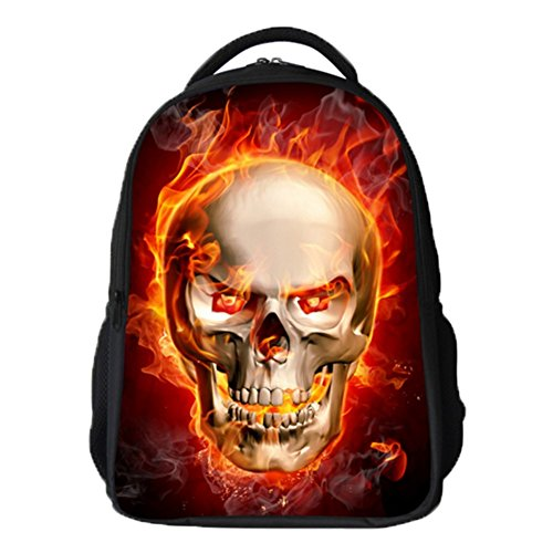 Ohmais 3D Tier Rücksack Rucksäcke Backpack Daypack Schulranzen Schulrucksack Wanderrucksack Schultasche Rucksack für Schülerin rot