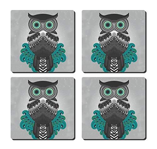 GDEE - Salvamanteles corcho diseño búho personalizado