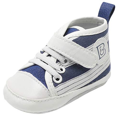 SOMESUN Baby Jungen Mädchen Krippe Schuhe Neugeborenes Modisch Süße Klassisch Segeltuchschuhe Weich Sohle Rutschfest Freizeit Sneaker Wanderschuhe - Klassische Krippe Schuhe