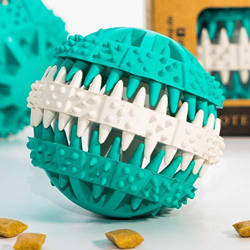 Pfotenolymp® Premium Snackball für Hunde in Geschenk-Box - Kauspielzeug und Futterball für kleine Hunde - Hundeball